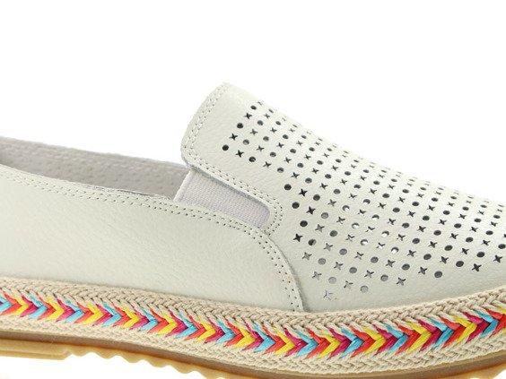 Białe buty damskie Lanqier 42C1966
